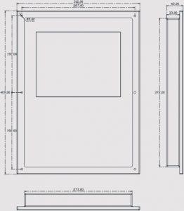 Kích thước bộ điều khiển CNC F2300B